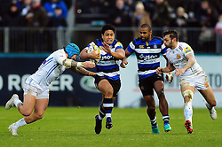 Ben Tapuai of Bath Rugby takes on the Exeter Chiefs defence - Mandatory byline: Patrick Khachfe/JMP - 07966 386802 - 31/12/2016 - RUGBY UNION - The Recreation Ground - Bath, England - Bath Rugby v Exeter Chiefs - Aviva Premiership.