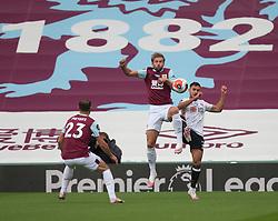 Charlie Taylor of Burnley (Top) in action - Mandatory by-line: Jack Phillips/JMP - 05/07/2020 - FOOTBALL - Turf Moor - Burnley, England - Burnley v Sheffield United - English Premier League