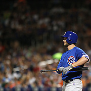 NEW YORK, NEW YORK - July 02: Kris Bryant #17 of the Chicago Cubs batting during the Chicago Cubs Vs New York Mets regular season MLB game at Citi Field on July 02, 2016 in New York City. (Photo by Tim Clayton/Corbis via Getty Images)