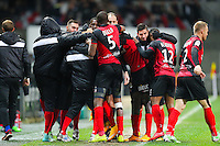 Joie groupe Guingamp  - 03.12.2014 - Guingamp / Caen - 16eme journee de Ligue 1 <br /> Photo : Vincent Michel / Icon Sport