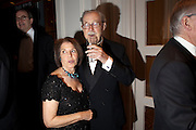 LADY WHICKER; SIR ALAN WHICKER, 80th anniversary gala dinner for the FoylesÕ Literary Lunch. Ballroom. Grosvenor House Hotel. Park Lane. London. 21 October 2010. -DO NOT ARCHIVE-© Copyright Photograph by Dafydd Jones. 248 Clapham Rd. London SW9 0PZ. Tel 0207 820 0771. www.dafjones.com.<br /> LADY WHICKER; SIR ALAN WHICKER, 80th anniversary gala dinner for the Foyles' Literary Lunch. Ballroom. Grosvenor House Hotel. Park Lane. London. 21 October 2010. -DO NOT ARCHIVE-© Copyright Photograph by Dafydd Jones. 248 Clapham Rd. London SW9 0PZ. Tel 0207 820 0771. www.dafjones.com.