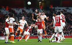 October 31, 2018 - London, England, United Kingdom - London, UK, 31 October, 2018.Petr Cech of Arsenal (Black).During Carabao Cup fourth Round between Arsenal and Blackpool at Emirates stadium , London, England on 31 Oct 2018. (Credit Image: © Action Foto Sport/NurPhoto via ZUMA Press)