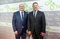 Radenko Mijatovic, president of NZS and Marko Vavpetic, secretary general of NZS during Traditional New Year party of of the Slovenian Football Association - NZS, on December 18, 2017 in Kongresni center, Brdo pri Kranju, Slovenia. Photo by Vid Ponikvar / Sportida