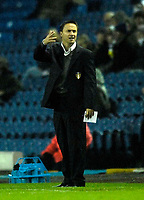 Photo: Jed Wee/Sportsbeat Images.<br /> Leeds United v Hereford United. Coca Cola League 1. 20/11/2007.<br /> <br /> Leeds manager Dennis Wise feels the pressure.