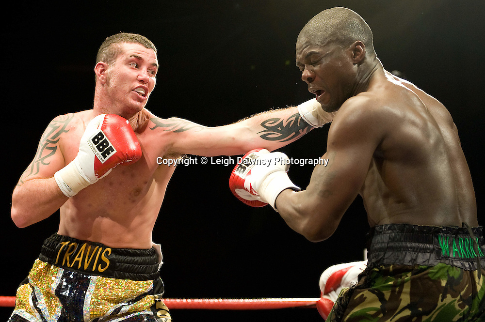 Travis Dickinson defeats Hastings Rasani at Brentwood Centre 22nd January 2010, Frank Maloney Promotions,Credit: © Leigh Dawney Photography