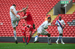 LIVERPOOL, ENGLAND - Saturday, January 8, 2011: Liverpool's Kristjan Emilsson scores the first equalising goal against Crystal Palace during the FA Youth Cup 4th Round match at Anfield. (Pic by: David Rawcliffe/Propaganda)