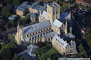 aerial photograph of St John the Baptist Cathedral, Norwich. Designed by George Gilbert Scott, Jr. the Roman Catholic Cathedral in Norwich took 28 years to construct from 1882 to 1910.