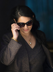 © Licensed to London News Pictures. 25/04/2017. London, UK. Priti Patel, Secretary of State for International Development, leaves Downing Street after attending the penultimate Cabinet meeting ahead of the election on June 8th, 2016. Photo credit: Peter Macdiarmid/LNP