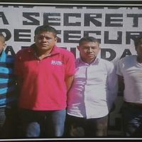 Toluca, México.- La Secretaria de Seguridad Ciudadana informo sobre la detención de integrantes de la Familia Michoacana que se dedicaban a la extorsión en la zona sur del Estado de México, al igual que presuntos ladrones y secuestradores que operaban en la entidad mexiquense, las detenciones fueron realizadas en los últimos días.  Agencia MVT / Crisanta Espinosa
