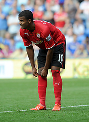 Cardiff City's Fraizer Campbell  - Photo mandatory by-line: Alex James/JMP - Tel: Mobile: 07966 386802 31/08/2013 - SPORT - FOOTBALL - Cardiff City Stadium - Cardiff - Cardiff City V Everton - Barclays Premier League