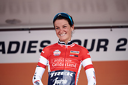 Lizzie Deignan (GBR) is awarded the most combative rider jersey at Boels Ladies Tour 2019 - Stage 1, a 123 km road race from Stramproy to Weert, Netherlands on September 4, 2019. Photo by Sean Robinson/velofocus.com