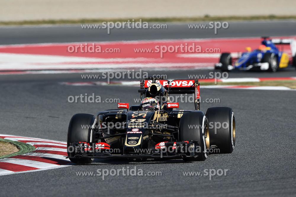 27.02.2015, Circuit de Catalunya, Barcelona, ESP, FIA, Formel 1, Testfahrten, Barcelona, Tag 2, im Bild Pastor Maldonado (VEN) Lotus E23 Hybrid // during the Formula One Testdrives, day two at the Circuit de Catalunya in Barcelona, Spain on 2015/02/27. EXPA Pictures &copy; 2015, PhotoCredit: EXPA/ Sutton Images/ Mark Images<br /> <br /> *****ATTENTION - for AUT, SLO, CRO, SRB, BIH, MAZ only*****