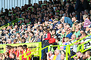 The East stand during the EFL Sky Bet League 2 match between Forest Green Rovers and Swindon Town at the New Lawn, Forest Green, United Kingdom on 25 August 2018.