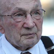 Former world champion boxer Carmen Basilio as seen during the 23rd Annual International Boxing Hall of Fame Induction ceremony at the International Boxing Hall of Fame on Sunday, June 10, 2012 in Canastota, NY. (AP Photo/Alex Menendez)