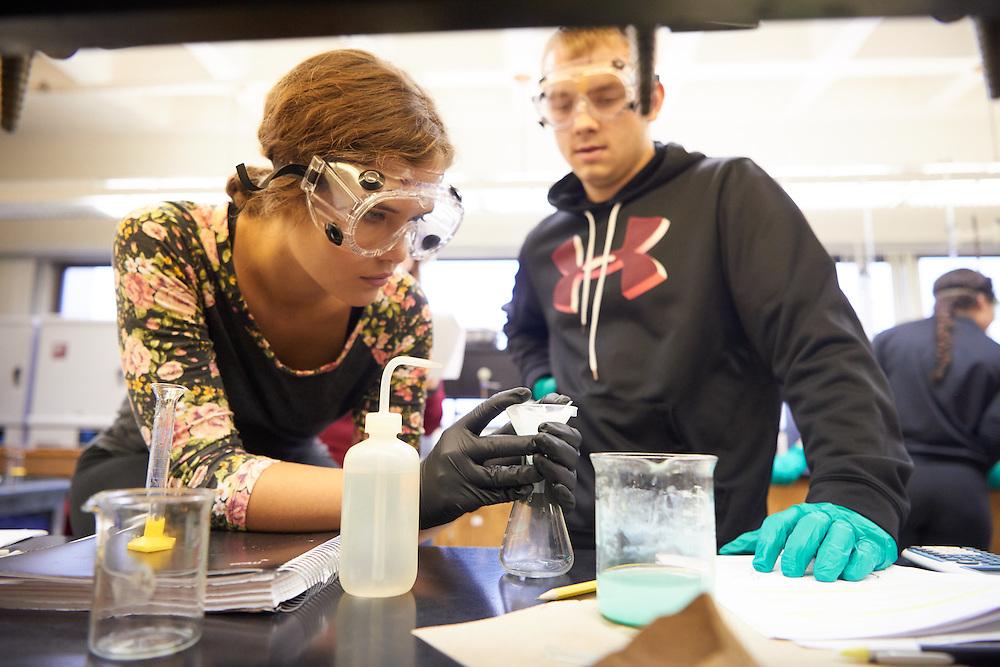Activity; Lab; Buildings; Cowley; Location; Inside; Classroom; Type of Photography; Candid; UWL UW-L UW-La Crosse University of Wisconsin-La Crosse; West Salem High School Students Dual Credit Program Chemistry