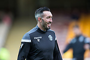 3rd November 2018, Fir Park, Motherwell, Scotland; Ladbrokes Premiership football, Motherwell versus Dundee; Ryan Bowman of Motherwell during the warm up