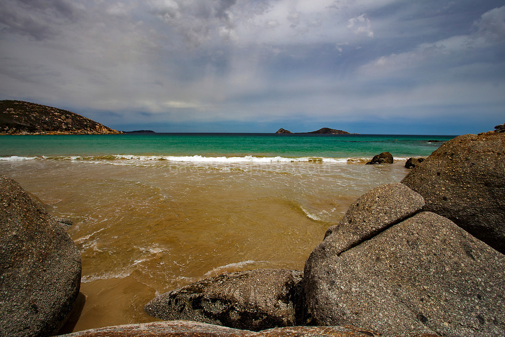 Picnic Bay Beach at Wilsons Prom - Wilsons Promontory Marine Park, Gippsland, Victoria, Australia.
