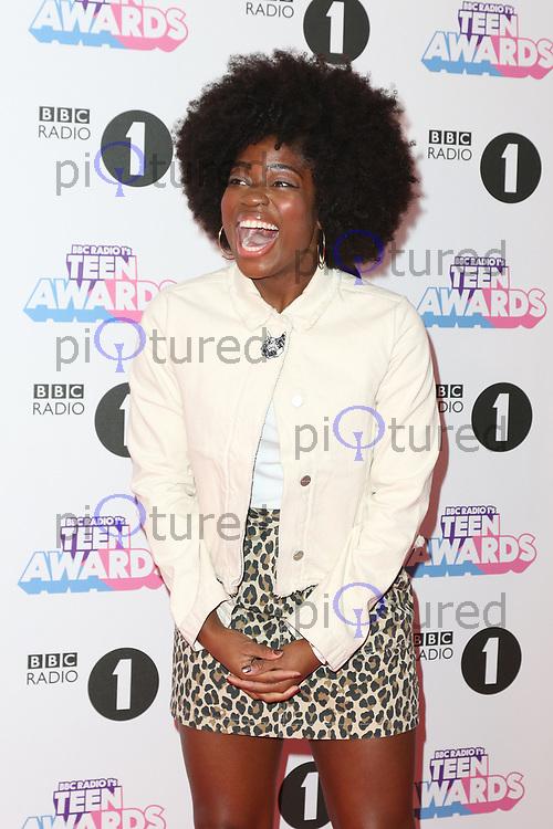 Clara Amfo, Radio 1 Teen Awards, SSE Arena Wembley, London UK, 22 October 2017, Photo by Richard Goldschmidt