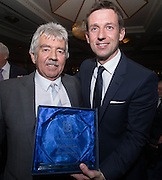 Neil McCann with his dad Eddie, after the former Dens winger was inducted into Dundee FC Hall of Fame 2016 - at the Invercarse Hotel<br /> <br />  - &copy; David Young - www.davidyoungphoto.co.uk - email: davidyoungphoto@gmail.com