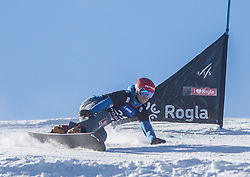 Kosir Zan during the men's Snowboard giant slalom of the FIS Snowboard World Cup 2017/18 in Rogla, Slovenia, on January 21, 2018. Photo by Urban Meglic / Sportida