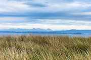 View from Wester Ross coastal trail near Applecross, in North West Coast of Scotland - Isle of Raasay and Skye with Cuillin mountains