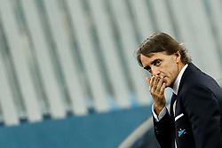November 23, 2017 - Saint Petersburg, Russia - FC Zenit Saint Petersburg head coach Roberto Mancini looks on during the UEFA Europa League Group L match between FC Zenit St. Petersburg and FK Vardar at Saint Petersburg Stadium on November 23, 2017 in Saint Petersburg, Russia. (Credit Image: © Mike Kireev/NurPhoto via ZUMA Press)