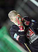 Lille goalkeeper Ludovic Butelle waits in anticipation as Lille miss their final penalty during the 1/4 Final of la Coupe de France, Stade Municipal, Toulouse, France, 18th March 2009.