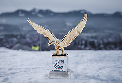 29.12.2018, Schattenbergschanze, Oberstdorf, GER, FIS Weltcup Skisprung, Vierschanzentournee, Oberstdorf, Qualifikation, im Bild Tournee Gesamtsieger Pokal // Tournee Overall Winner Trophy during his Qualification Jump for the Four Hills Tournament of FIS Ski Jumping World Cup at the Schattenbergschanze in Oberstdorf, Germany on 2018/12/29. EXPA Pictures © 2018, PhotoCredit: EXPA/ Stefanie Oberhauser