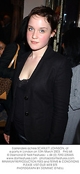 Eastenders actress SCARLETT JOHNSON, at a party in London on 10th March 2003.PHU 68