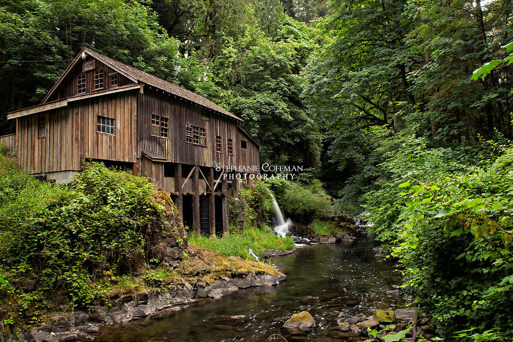 Historic Cedar Grist Mill near Etna, Washington, USA