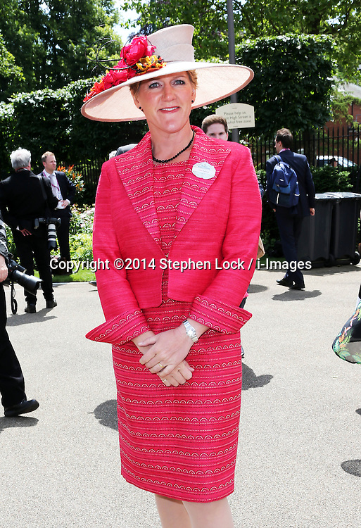 Image licensed to i-Images Picture Agency. 17/06/2014.    Clare Balding on  the opening day of Royal Ascot, United Kingdom. Picture by Stephen Lock / i-Images