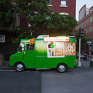 new york, ice cream food truck on 23 rd street