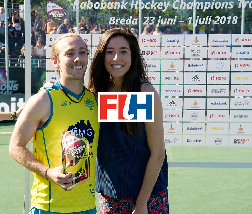 BREDA - Rabobank Hockey Champions Trophy<br /> Final Australia - India<br /> Australia won after shoot outs.<br /> Photo: Jake Harvie rising star.<br /> COPYRIGHT WORLDSPORTPICS FRANK UIJLENBROEK