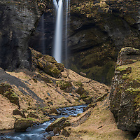 Kvernufoss waterfall (30m high) in Kvernugil gorge, South Iceland.