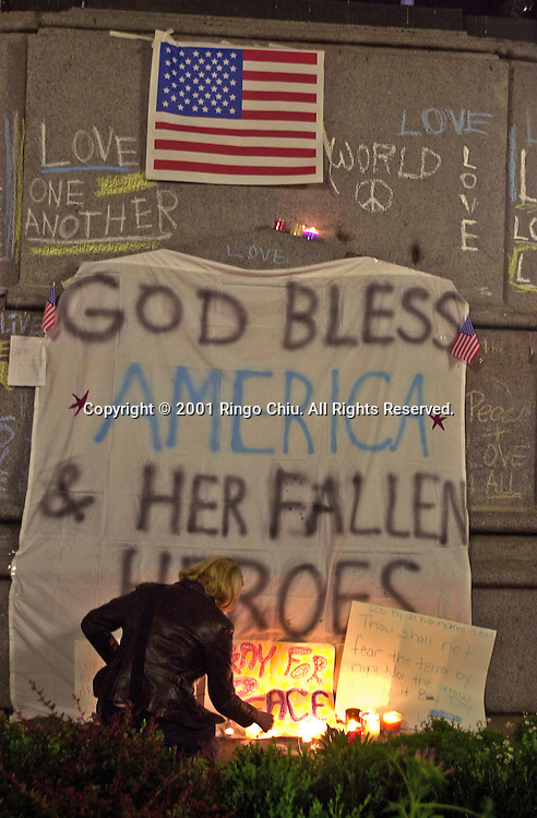 The World Trade Center after September 11, 2011. (Photo by Ringo Chiu/PHOTOFORMULA.com)