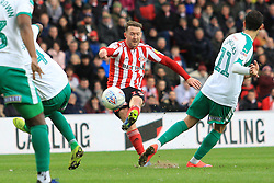 March 2, 2019 - Sunderland, England, United Kingdom - Sunderland's Aidan McGeady shoots during the Sky Bet League 1 match between Sunderland and Plymouth Argyle at the Stadium Of Light, Sunderland on Saturday 2nd March 2019. (Credit Image: © Mi News/NurPhoto via ZUMA Press)