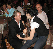 Cary Elwes and Sarah Silverman.Music For Mercy Corps Hamptons Benefit for Darfur Hosted by Cary Elwes and Sarah Silverman.Tuscan Villa.Water Mill, NY, United States .Saturday, August 23, 2008.Photo By Celebrityvibe.com.To license this image call (212) 410 5354 or;.Email: celebrityvibe@gmail.com; .Website: www.celebrityvibe.com.