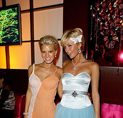 "Paris Hilton releases a photo on Twitter with the following caption: """".@ParisHilton & @JessicaSimpson during The 61st Golden Globe Awards - NBC Access Hollywood After Party at The Stardust Room at The Beverly Hilton in Beverly Hills on January 26, 2004. 👯‍♀️"""". Photo Credit: Twitter *** No USA Distribution *** For Editorial Use Only *** Not to be Published in Books or Photo Books ***  Please note: Fees charged by the agency are for the agency's services only, and do not, nor are they intended to, convey to the user any ownership of Copyright or License in the material. The agency does not claim any ownership including but not limited to Copyright or License in the attached material. By publishing this material you expressly agree to indemnify and to hold the agency and its directors, shareholders and employees harmless from any loss, claims, damages, demands, expenses (including legal fees), or any causes of action or allegation against the agency arising out of or connected in any way with publication of the material."