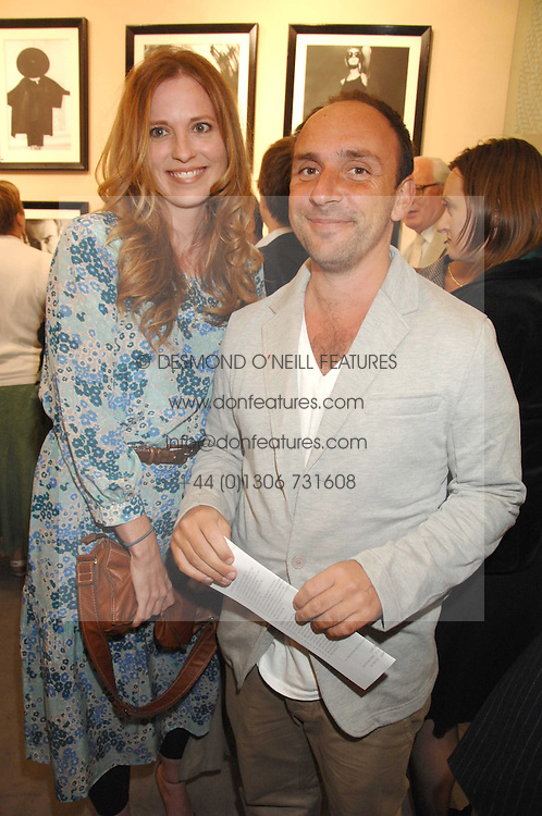 DAISY DONOVAN and DAN MAZEL at  a Private view of 'Terence Donovan: Image Maker And Innovator' at the Chris Beetles Gallery, 8 & 10 Ryder Street, London SW1 on 17th September 2007.<br />