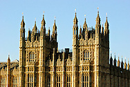 Palace of Westminster, Houses of Parliament, and Big Ben in London, England, United Kingdom.