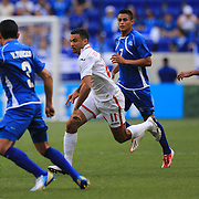 Carlos Edwards, Trinidad and Tobago in action during the El Salvador Vs Trinidad and Tobago CONCACAF Gold Cup group B football match at Red Bull Arena, Harrison, New Jersey. USA. 8th July 2013. Photo Tim Clayton