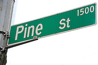Pine Street sign, Seattle