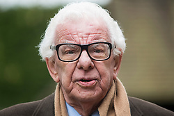 © Licensed to London News Pictures. 18/04/2016. Shirley, UK.  Barry Cryer arrives for the funeral of comedian, actor, writer Ronnie Corbett, held at St John the Evangelist Church in Shirley near Croydon. Corbett, who was most famous for his comedy sketch show  The Two Ronnies, performed with the late Ronnie Barker, died at the age of 85. Photo credit: Ben Cawthra/LNP