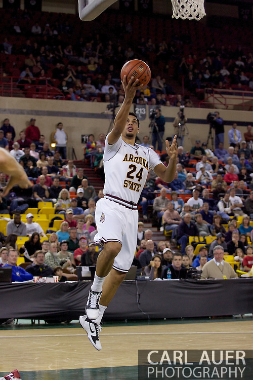 November 27th, 2010:  Anchorage, Alaska - Arizona State's Trent Lockett (24) finger rolls a shot up in the Sun Devil's 58-67 loss to St. Johns in the championship game of the Great Alaska Shootout.
