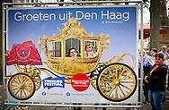 DEN HAAG - De voorbereidingen voor de derde dinsdag van het jaar: Prinsjesdag.  koning willem alexander opstraat en de gouden koets ROBIN UTRECHT