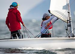 15.08.2016, Marina da Gloria, Rio de Janeiro, BRA, Rio 2016, Olympische Sommerspiele, Segeln, 470er Bewerb, Damen, im Bild Lara Vadlau (AUT), Jolanta Ogar (AUT) // Lara Vadlau of Austria Jolanta Ogar (AUT) during the Women's 470er competition in Sailing of the Rio 2016 Olympic Summer Games at the Marina da Gloria in Rio de Janeiro, Brazil on 2016/08/15. EXPA Pictures © 2016, PhotoCredit: EXPA/ Johann Groder
