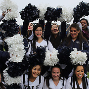 Yale cheerleaders rehearse before the Yale V Brown, Ivy League Football match at Yale Bowl. Yale won the match 24-17. New Haven, Connecticut, USA. 9th November 2013. Photo Tim Clayton