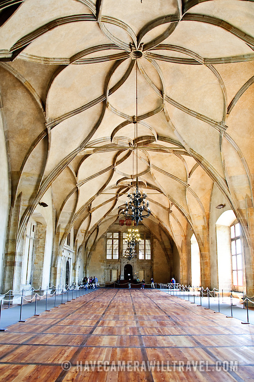 Interior of Vladislav Hall in Prague Castle