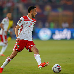 Noussair Mazraoui of Morocco during the African Cup of Nations match between South Africa and Morocco on July 1st, 2019. Photo : Ulrik Pedersen / Icon Sport
