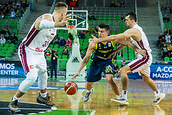 during basketball match between National teams of Slovenia and Latvia in Round #10 of FIBA Basketball World Cup 2019 European Qualifiers, on December 2, 2018 in Arena Stozice, Ljubljana, Slovenia. Photo by Grega Valancic